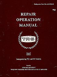 Triumph Tr6 Shop Service Repair Manual Book By Triumph 1969-76 Tr-6 Workshop