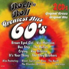 ROCK N ROLLGREATEST HITS OF THE 60s  (CD, Jul-2000, 2 Discs)