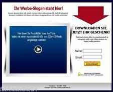 ►ANMELDESEITEN-GENERATOR SQUEEZE-WEBSEITEN MRR SOFTWARE WEBPROJEKT WEBSITES GEIL