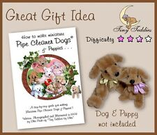 Pipe Cleaner Craft Book How to Make Miniature Dogs & Puppy Dollhouse collectable
