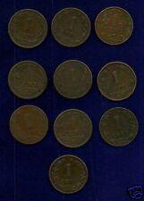 NETHERLANDS KINGDOM  1 CENT COINS: 1878-1944, LOT OF 10