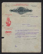 """PARIS (XVII°) LANTERNES Américaines Dietz pour AUTOMOBILE """"MESTRE & BLATGE"""" 1907"""