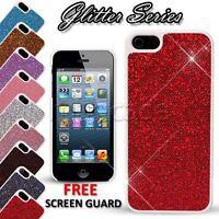 For apple iphone SE 5S 5 Case Glitter back shiny hard cover