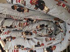 Vintage Ralph Lauren Comforter FULL QUEEN Polo Bears Striped