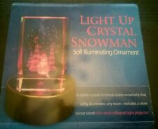 LIGHT UP CRYSTAL SNOWMAN ⛄ IN PRESENTATION BOX - UNUSED