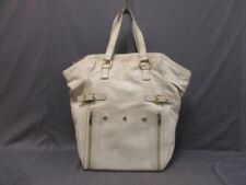 Auth YvesSaintLaurent rivegauche (YSL) Downtown 175883 Ivory Leather Tote Bag