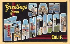 Large Letter postcard Greetings from San Francisco California CA