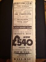 H2-1 Ephemera 1969 Dreamland Margate Advert Arthur Conley The Undefeated