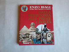"""Libro fumetto""""Enzo Biagi""""Dalla preistoria alle prime civilta,a fumetti,del 1994."""