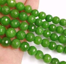 """Faceted 10mm Green Peridot Round Beads Loose Beads Gemstone 15"""" strand AA"""