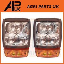 PAIR of JCB Fastrac Headlight Headlamp Head Light Indicator 3170,3190,3200 etc