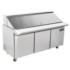 "72"" Mega Sandwich Prep Table Unit 3 Door Top Salad Prep 30 Pan Cooler 6' New"