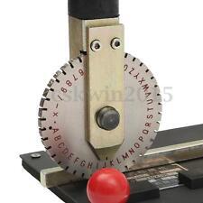 Manual Metal Embossing Deboss Dog Tag Metal Plate Stamping Embosser Machine