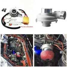 12V Electric Turbo Supercharger Thrust Turbocharger Air Filter Intake Boost Fan