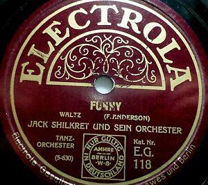 """JACK SHILKRET """"Sometime / Funny"""" Electrola 1936 78rpm 10"""""""