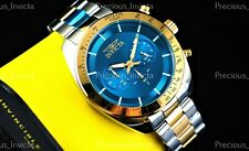 ➤➤NEW Invicta Men's 48mm SPEEDWAY QUARTZ CHRONOGRAPH Blue Dial Two Tone SS Watch