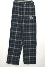 NFL Team Apparel Men's Small Tennessee Titans Plaid Gray Pajama Pants