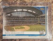 2019 Topps Series 1 Miller Park Milwaukee Brewers  150 Years Gold Stamp