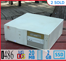 Commercial Vintage Dell 486 DX2 66MHz MS-DOS 6.22 Win 3.1 SSD Pro Refurb PC RARE