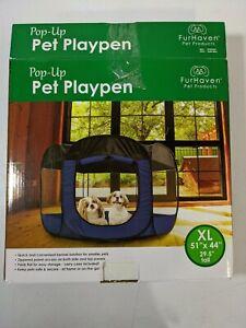 PreOwned Furhaven Pet Playpen Indoor-Outdoor Mesh Open-Air Playpen Exercise Pen