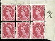 Great Britain Scott #327Block of 6 Mint  Catalogs $39