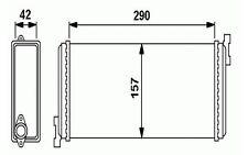 NRF Radiador de calefacción MERCEDES-BENZ 190 SL PONTON HECKFLOSSE 54240