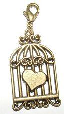 Bronze Modeschmuck-Anhänger mit Herz-Schliffform
