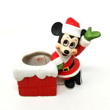 Vintage Disney Gift-Ware Mickey Mouse Christmas Figurine Walt Disney