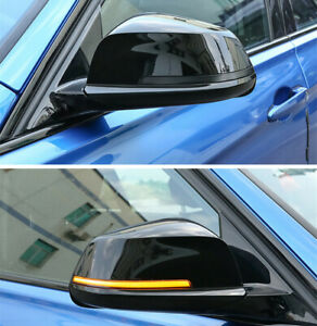 Sequential Smoked Side Mirror Blink Turn Signal Light for BMW 1 - 4 Series Pair