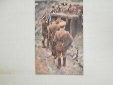 Military - WWI - War Picture - The King..outside a captured dugout - postcard