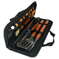 Barbecue Utensil Tool Set 11pc Carry Bag Food Camping Garden Summer BBQ Skewers