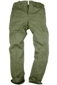 MILITARY OG COMBAT CARGO PANTS Gents 38 w plain olive British Army Nato trousers