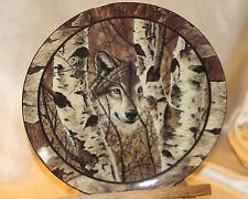 BRADFORD EXCHANGE COLLECTOR PLATE WOLF CAMO TIMELESS WATCH NORTHWOODS SPIRIT