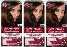 3x Garnier Color Colour Intensity 4.30 Golden Brown - Permanent Dye