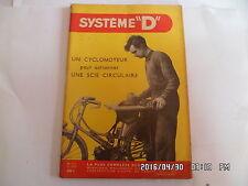 SYSTEME D N°125 05/1956 SCIE CIRCULAIRE SUR CYCLOMOTEUR AUVENT DE CARAVANE   J30