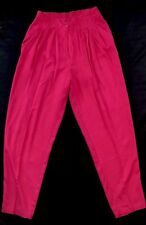 Dress Pants Size L michel Rayon Dark Pink Fuschia Elatic Back NWOT's
