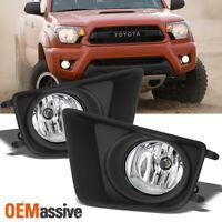 Fits 2012-2015 Toyota Tacoma Pickup Truck Bumper Fog Lights Clear w/Bulb+Switch