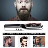 Pettine elettrico per spazzola per capelli con piastra per barba portatile