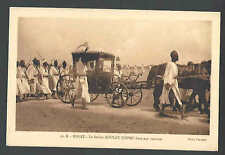 Ca 1921 PPC* MOROCCO RABAT SULTAN MOULAY YUSSEF IN CART W/ARMY MILITARY MINT