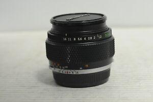 Olympus Zuiko Auto-S 50mm F1.2 Lens with Cap
