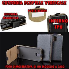 Custodia per Microsoft Lumia 950 in Ecopelle apertura verticale cover Tpu Grigio