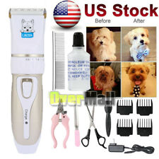 Pet Professional Nail Grooming Clippers Kit For Dog Cat Hair Trimmer Groomer Set