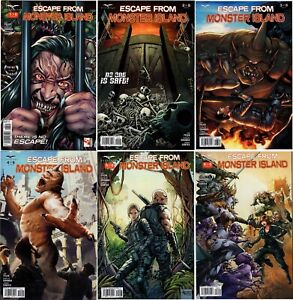 Zenescope Escape From Monster Planet #1 - #6 Lot Complete Set Cover B NM