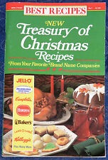 BEST RECIPES *NEW Treasury of Christmas Recipes* ILLUSTRATED COOKBOOK, 1990