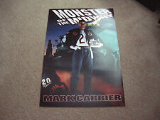 "MARK CARRIER 1985 CHICAGO BEARS ""MONSTER OF THE MIDWAY"" 20X30 POSTER PRINT"