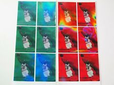 1997 METAL GEMS RED / GREEN  MICHAEL JORDAN - Funny stickers  lot 6