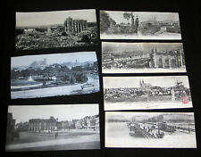 7 CPA CARTE LETTRE PANORAMA CHARTRE BEAUVAIS REIMS LYON TRAMWAY FIACRE 1900