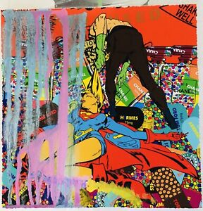MR CLEVER ART SUPER JUXTAPOP #1 UNIQUE painting pop contemporary street urban