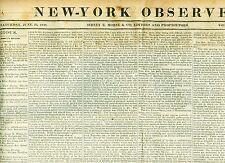 Newspaper Florida Seminoles &Negro Allies Surrender Texas Annexation Canada 1838