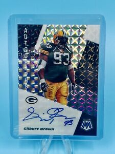 2020 Panini Mosaic Gilbert Brown Autograph Silver Prizm Auto PACKERS HOBBY ONLY